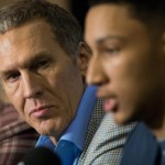 With adversity striking the Sixers in the form of injuries and poor perimeter play, Bryan Colangelo has to keep his eye on what's important long-term | Bill Streicher-USA TODAY Sports