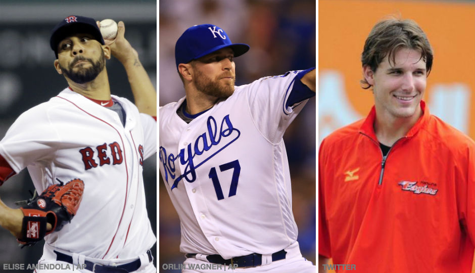 Red Sox pitcher David Price, Royals pitcher Wade Davis and former Nationals minor league pitcher Ryan Tatusko.