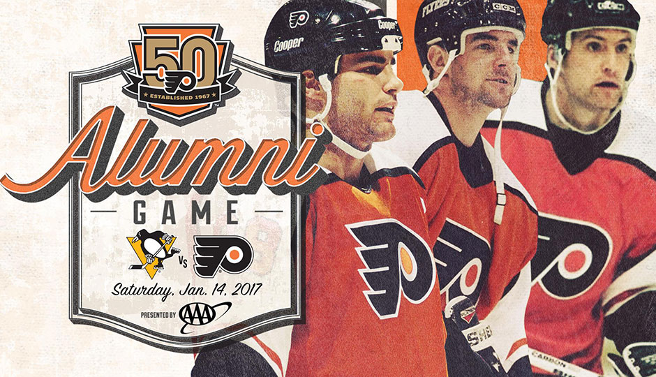 Flyers Legion of Doom line - alumni game