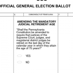 Ballot question on judicial retirement age