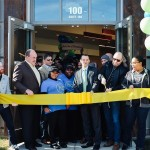 Ribbon cutting at today's official opening of the 13th Honeygrow