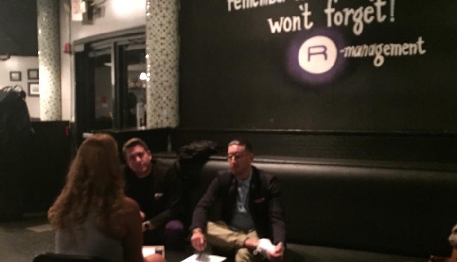NOTO held interviews at Recess Lounge.