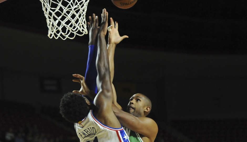 Sixers center Joel Embiid goes up for a block against Boston's Al Horford   Bob DeChiara-USA TODAY Sports