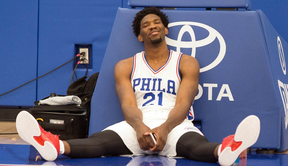 Joel Embiid showcased his potential in his preseason debut. | Bill Streicher-USA TODAY Sports
