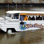 A Philadelphia Ride the Ducks vehicle in a 2011 file photo. Matt Rourke/AP