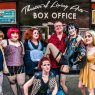 Robert Drake (center) with members of TNP, a Rocky Horror shadow cast. (Photo by InFlux Photography)