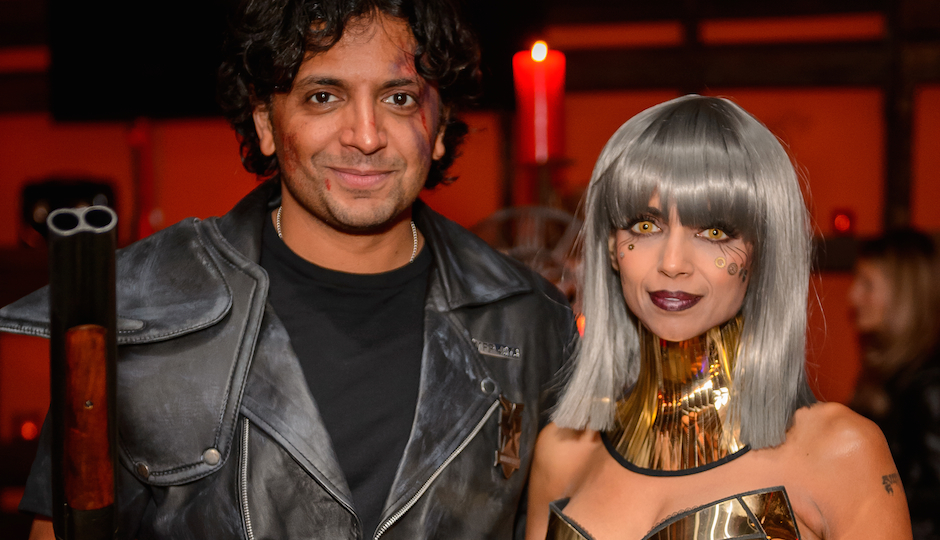 Filmmaker M. Night Shyamalan and wife Dr. Bhavna Shyamalan at the Shyamaween Halloween Party (All photos by Miles Boyer)