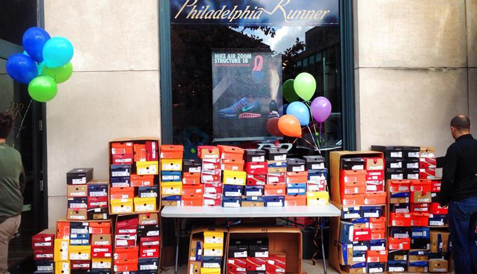 A shot of one of Philadelphia Runner's past sidewalk sales | Photo via Facebook