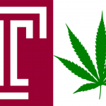 Temple logo; Cannabis leaf