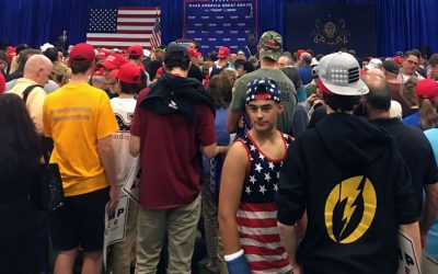 Teens at Trump rally