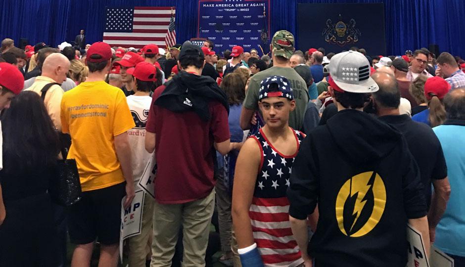 Teens at Trump rally