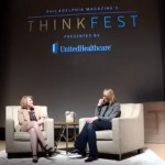 Madeline Bell and Lucinda Duncalfe in discussion at ThinkFest 2016.