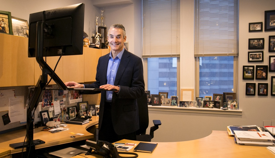 Marc Brownstein at his standing desk. Photo courtesy of the Brownstein Group.