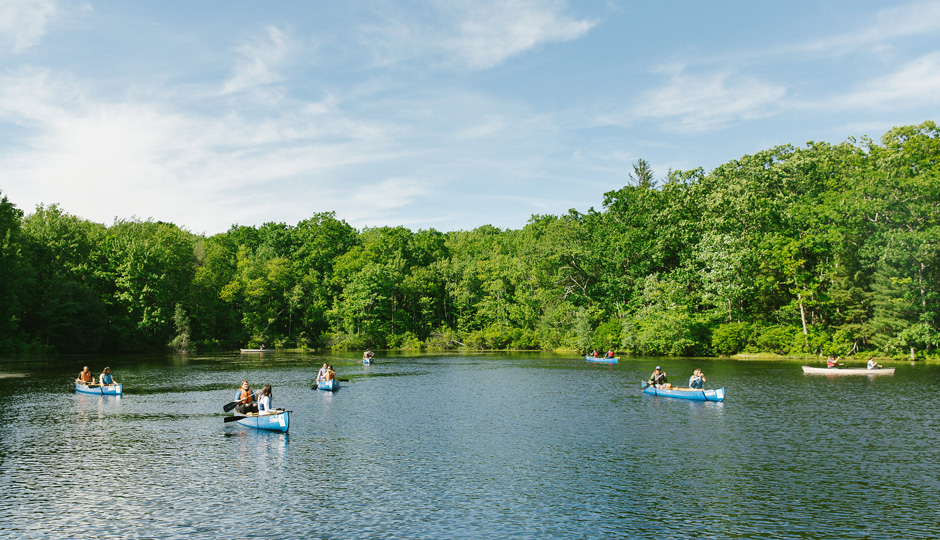 Canoeing at Camp Bonfire | Photo by Paul Gargagliano for Hazel Photo
