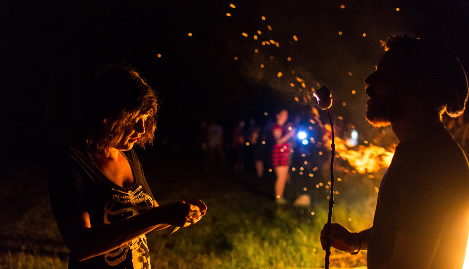 Bonfire at Camp Bonfire | Photo by Paul Gargagliano for Hazel Photo