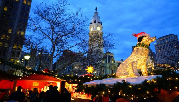 christmas village was in love park last year