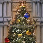 A rendering of the Philadelphia Holiday Tree at Dilworth Park. Courtesy of David Korins Design