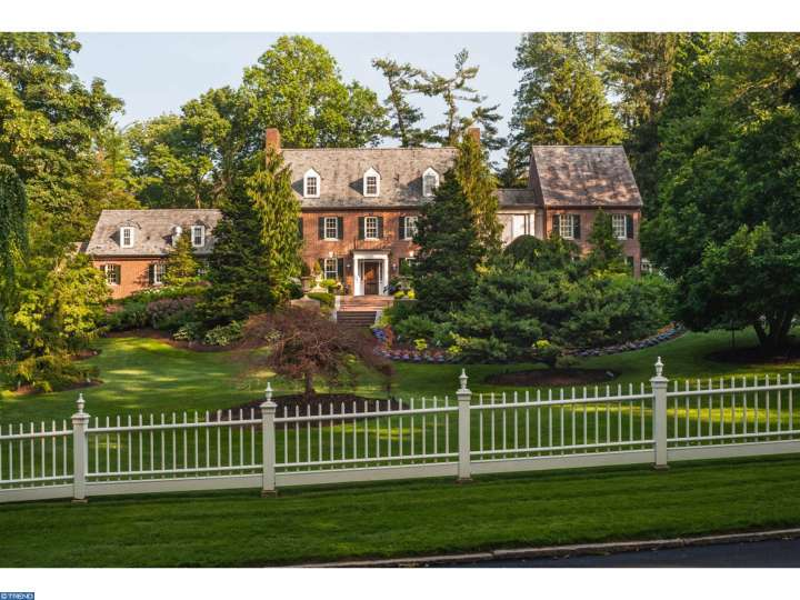 Front Lawn Elevation : Main line monday over the top opulence in haverford