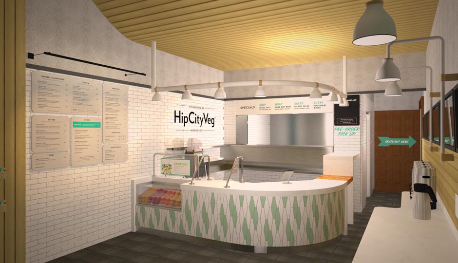 Rendering of the HipCityVeg location on Broad Street | Image courtesy HipCityVeg