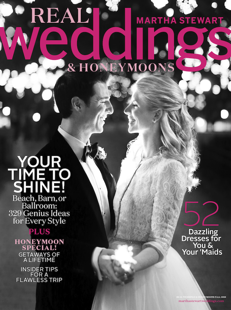 That's me and the husband, on the cover of Martha Stewart's Fall Real Weddings issue, on newsstands now.