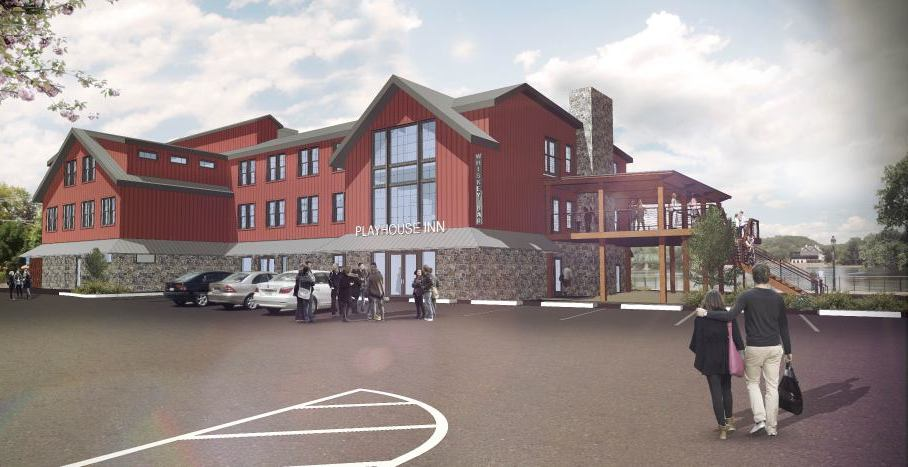 A rendering of the new Playhouse Inn