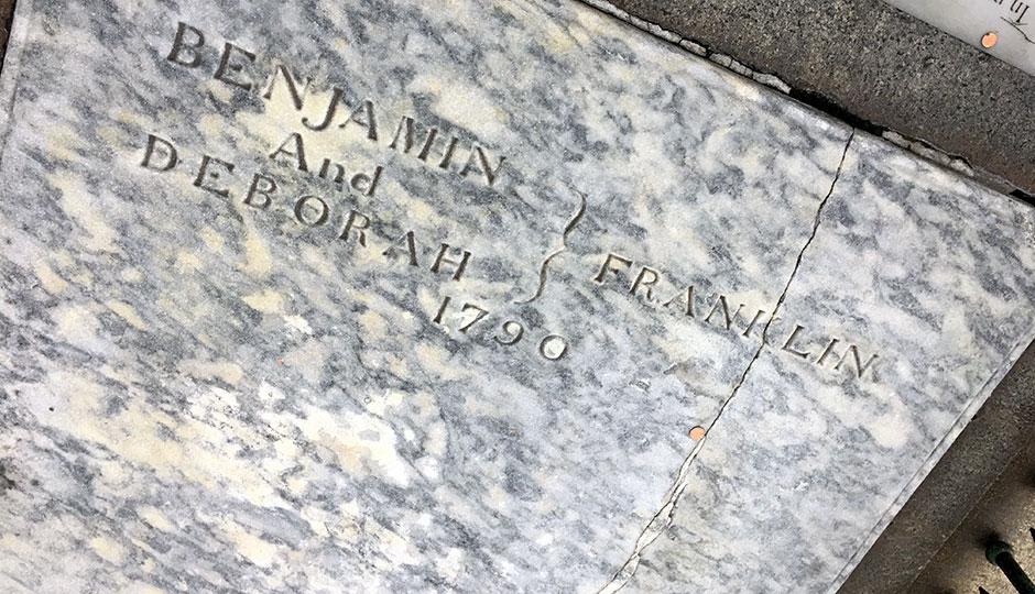 Ben and Deborah Franklin's Grave