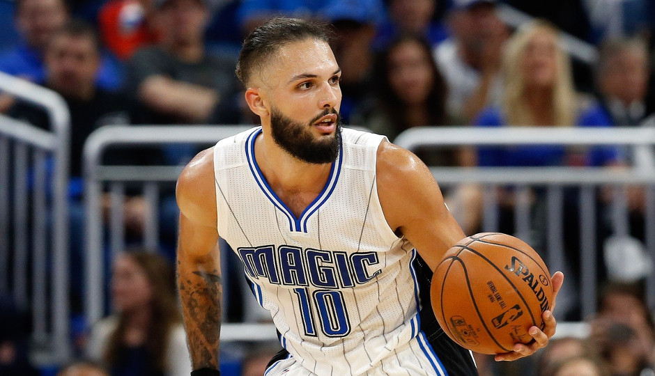 Evan Fournier is leading the Magic in scoring at 16.7 points per game | Kim Klement-USA TODAY Sports