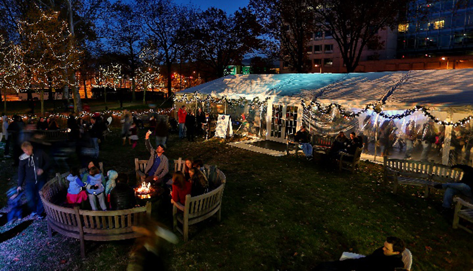 Franklin Square is already kicking off the holidays.
