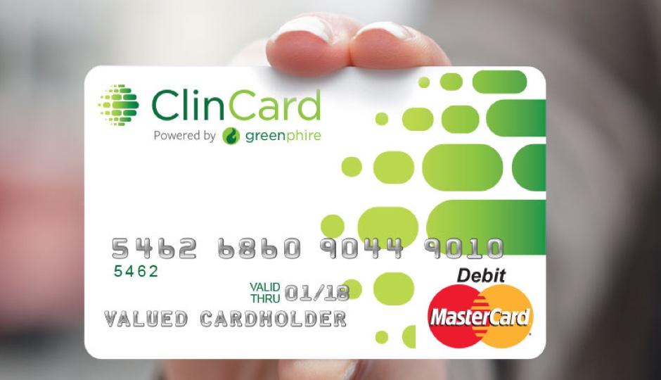 Greenphire's ClinCard. |Photo courtesy of Greenphire