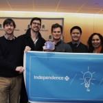 Stephen Klasko (left) with 2015 Health Hack winner CubeSmart and IBX sponsors. Photo courtesy of Jefferson University.