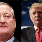(L-R) Mayor Jim Kenney, President-elect Donald Trump