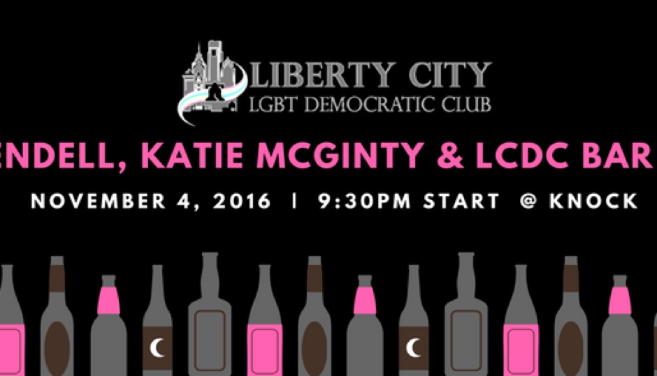 Liberty City will be starting the crawl on Friday at 9:30 p.m. at Knock and moving approximately every half hour to other Gayborhood bars.