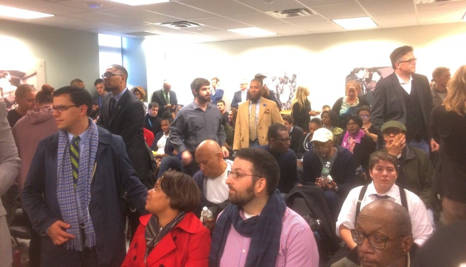 Part of the overflow crowd that attended the October 25th Human Relations Commission hearing. | Photo: Sandy Smith