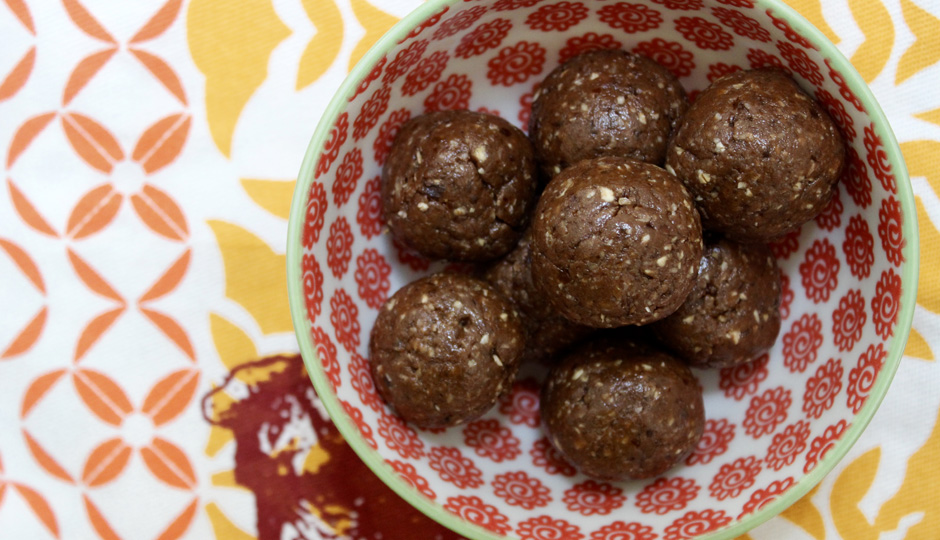 No-bake chocolate-peanut butter protein bites | Photo  by Becca Boyd