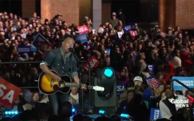 Bruce Springsteen - Hillary Clinton rally