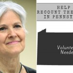 Jill Stein with Pennsylvania recount logo
