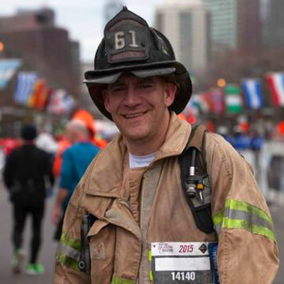 Steve Bender at last year's Philadelphia Marathon | Photo courtesy Steve Bender