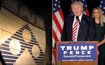 Penn shield; Donald Trump