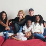 Lauren Hart and Todd Carmichael with daughters (from left) Yemi, Bek, Selah and Yordi Hart Carmichael | Photograph by Colin Lenton