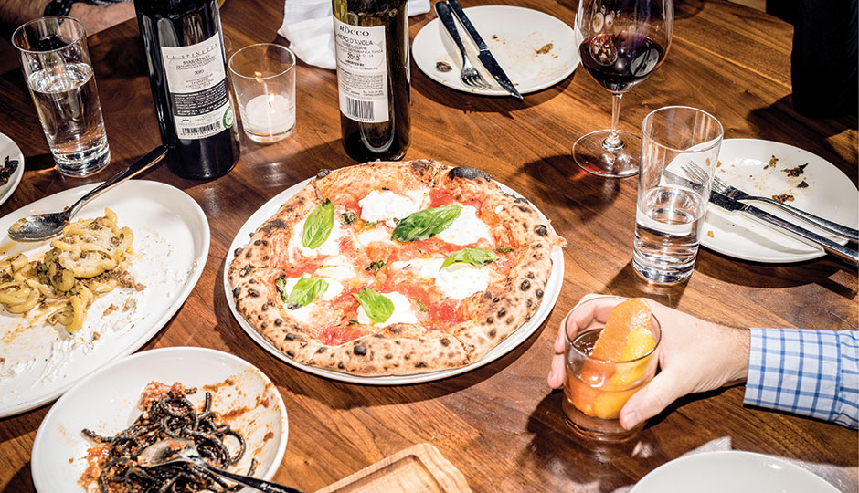 Pizza, pasta and booze at Wm. Mulherin's Sons in Fishtown | Photograph by Christopher Leaman