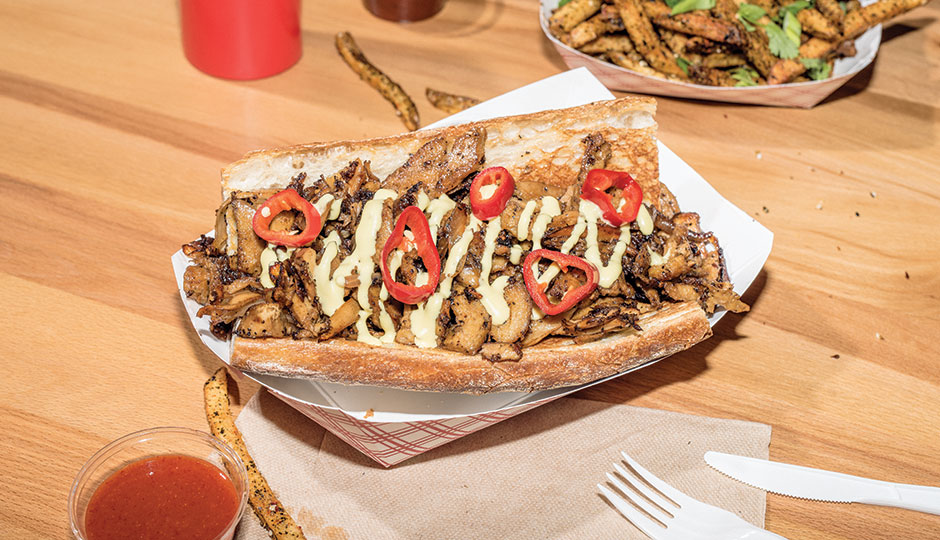 The Wiz Kid Philly, a vegan cheesesteak, from Wiz Kid | Photograph by Christopher Leaman