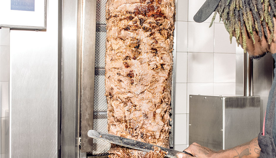 Shawarma at Naf Naf Grill in Center City | Photograph by Christopher Leaman