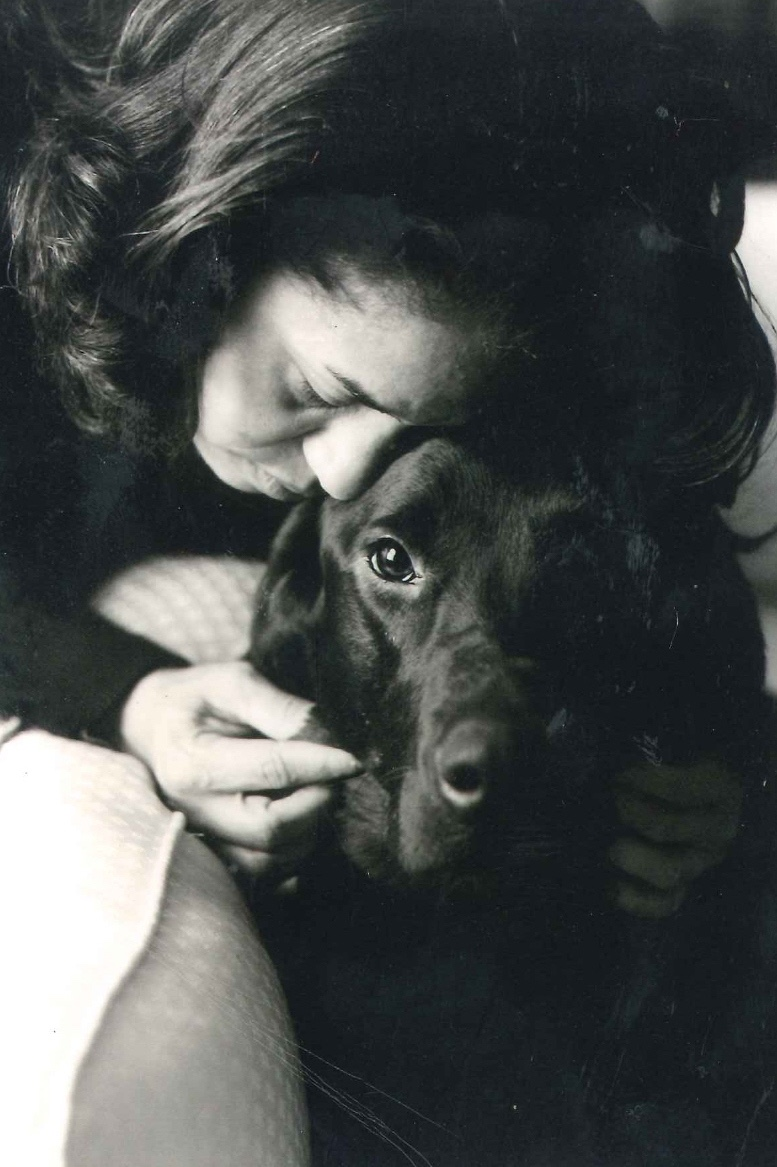 Julie and her late dog Kohl.