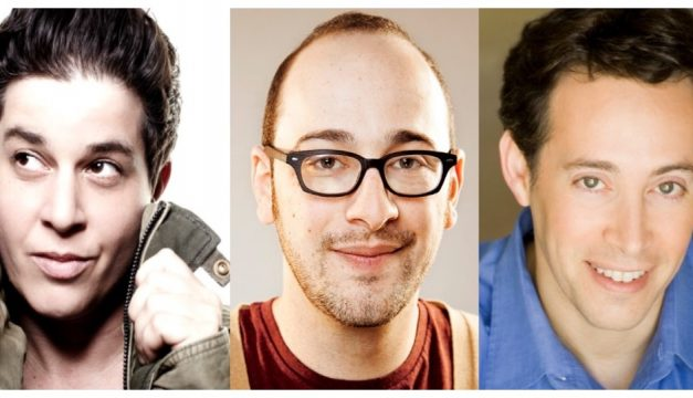 See comedians Julie Goldman, Josh Gondelman and Avi Liberman at the eighth annual Moo Shu Jew Show. Photo provided