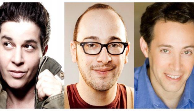 See comedians Julie Goldman, Josh Gondelman and Avi Liberman at the eighth annual Moo Shu Jew Show. Photo provided