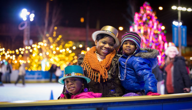 Watch the fireworks from one of two Parties on Ice at Blue Cross RiverRink. Photo by Matt Stanley