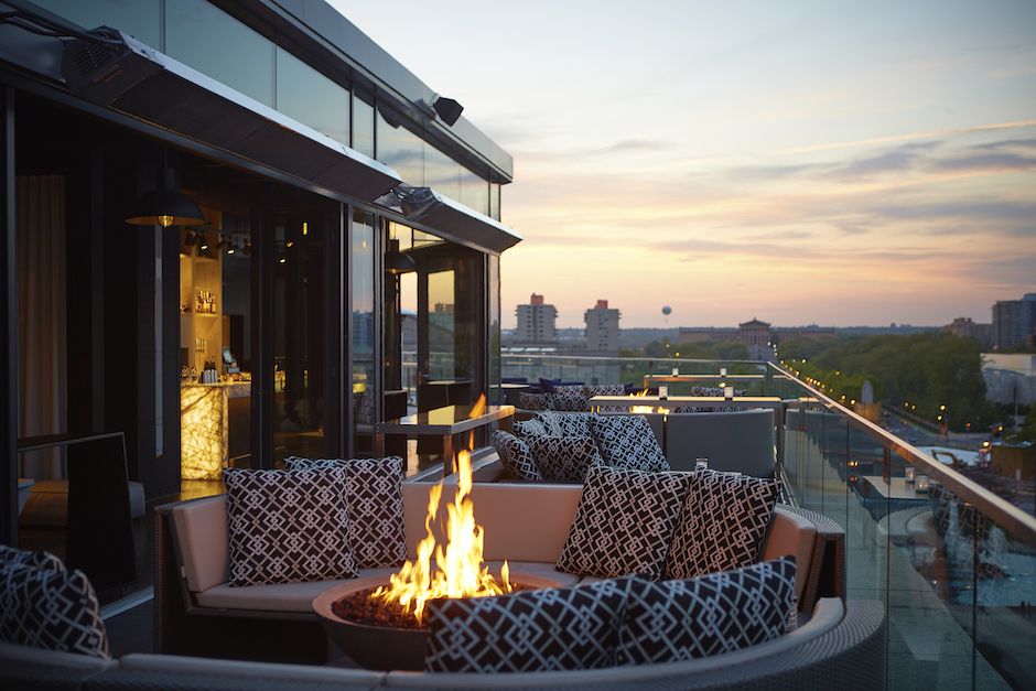 The Assembly Rooftop Lounge at the Logan Hotel.