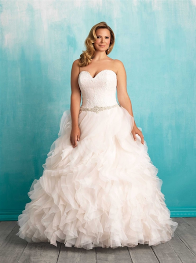 Style W374 by Allure Bridals Women.