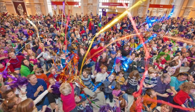 The Please Touch Museum in Fairmount Park's Memorial Hall rings in the New Year during the day with Countdown2Noon. Photo by G. Widman for Visit Philadelphia