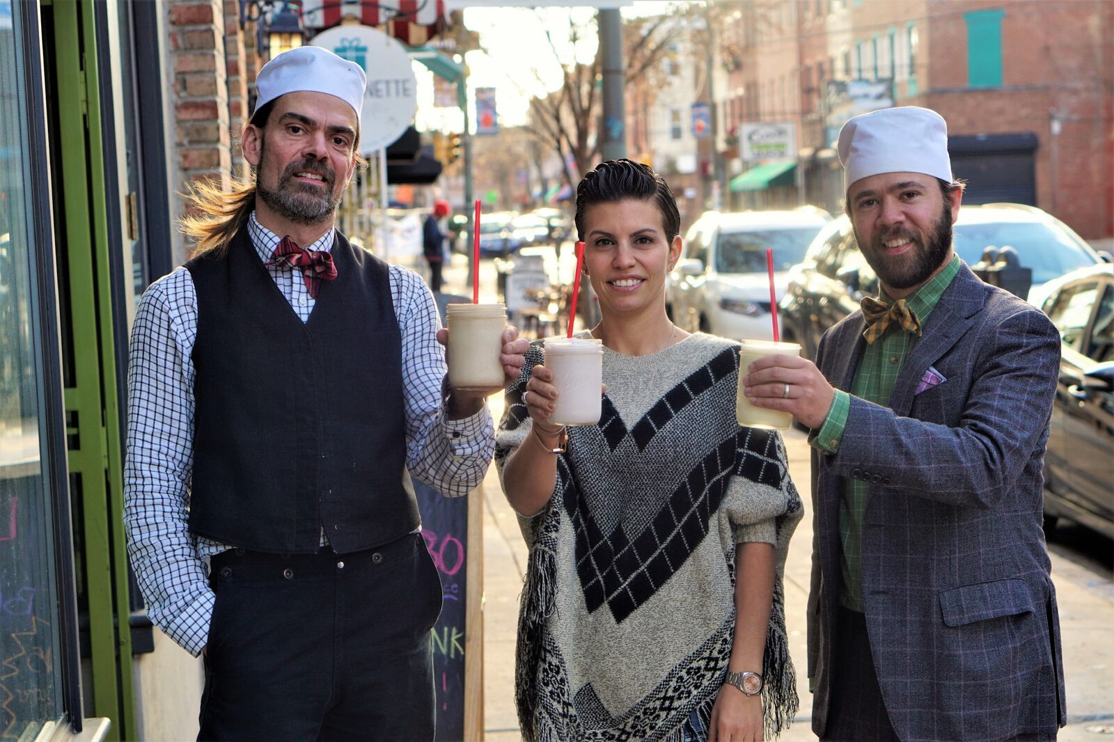 P'unk Burger and Franklin Fountain are collaborating on milkshakes.